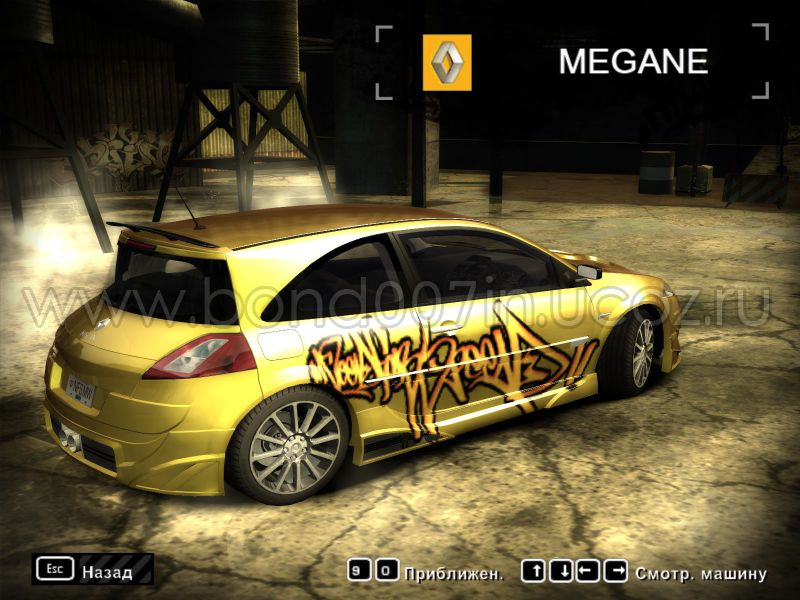 need for speed most wanted renault megane. Black Bedroom Furniture Sets. Home Design Ideas